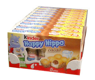 Kinder Happy Hippo - Cocoa, CASE, 10x(20.7g x 5) - Parthenon Foods