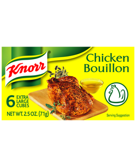 Knorr Chicken Flavored Bouillon, 2.5oz - Parthenon Foods