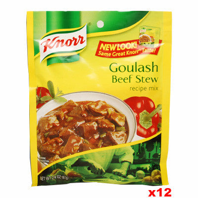 Knorr Beef Stew, Goulash Mix, CASE 12x2.4oz - Parthenon Foods