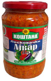 Kostana Leskovacki Ajvar HOT, 23.6 oz (670g) 58131 OLD VILLAGE - Parthenon Foods