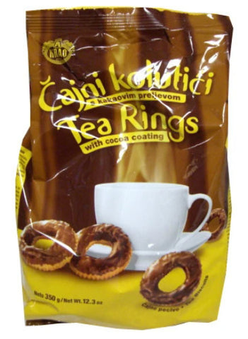 Tea Rings with Cocoa (Kras) 350g - Parthenon Foods
