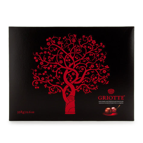 Griotte, (kras) 358g, Chocolates Filled with Sour Cherry in alcohol - Parthenon Foods