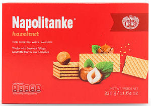Napolitanke Hazelnut Wafers, 330g - Parthenon Foods