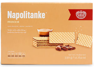 Napolitanke Mocca Wafers, 330g - Parthenon Foods