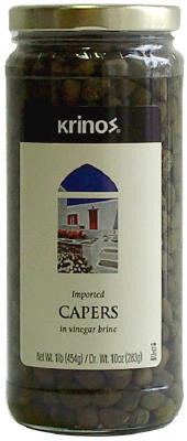 Capers Imported (krinos) 454g - Parthenon Foods