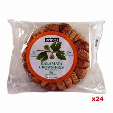 Dried Figs, Kalamata Crown, KRINOS, CASE (24 x 14 oz) - Parthenon Foods