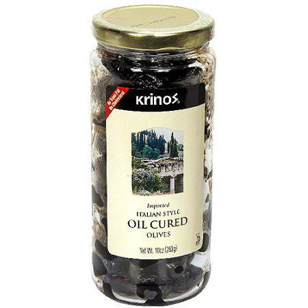 Oil Cured Olives, Italian Style (Krinos) 10oz - Parthenon Foods
