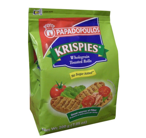 Krispies Wholegrain Toast, No Sugar, 7oz (200g) - Parthenon Foods