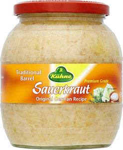 Kuhne or Gundelsheim Barrel Sauerkraut, 28.5oz (810g) - Parthenon Foods