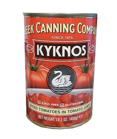 Diced Tomatoes in Tomato Juice (Kyknos) 14.1 oz (400g) - Parthenon Foods