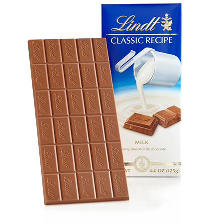 Lindt Swiss Classic Milk Chocolate, 4.4oz(125g) - Parthenon Foods