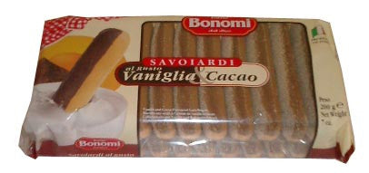 Lady Fingers with Vanilla and Cocoa (bonomi) 200g - Parthenon Foods