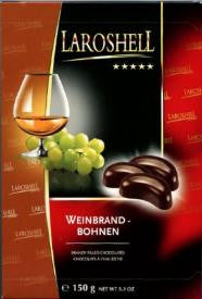 Laroshell Weinbrand Bohnen, 150g (Brandy Filled Chocolates) - Parthenon Foods