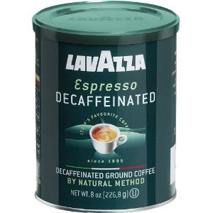 Lavazza Espresso Decaffeinated, Ground, 8 oz Can, - Parthenon Foods