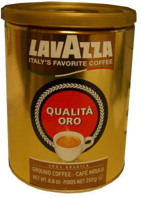 Ground Coffee 100 percent Arabica Qualita Oro (Lavazza), CASE 12x250g - Parthenon Foods