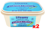 Farmer Cheese, 2 PACK (2 x 16oz (1lb)) - Parthenon Foods