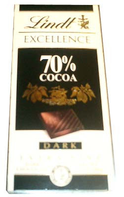 Lindt 70% Cocoa, Dark, 100g - Parthenon Foods