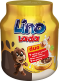 Lino Lada White and Cocoa Hazelnut Spread, Duo, 12oz (350g) - Parthenon Foods