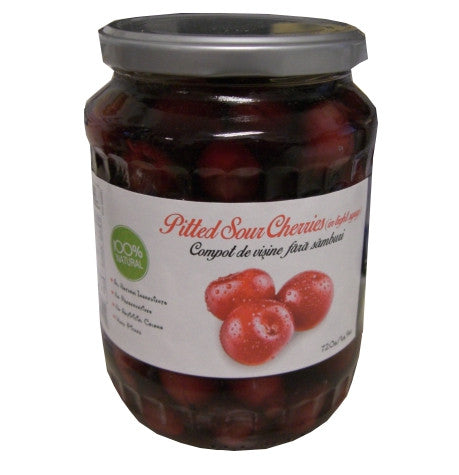 Pitted Sour Cherries in Light Syrup (Livada) 720g (1lb.9oz) - Parthenon Foods