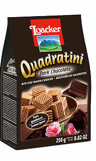 Loacker Dark Chocolate Quadratini 8.82oz (250g) - Parthenon Foods