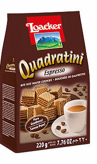 Loacker Espresso Quadratini 7.76 oz (220g) - Parthenon Foods