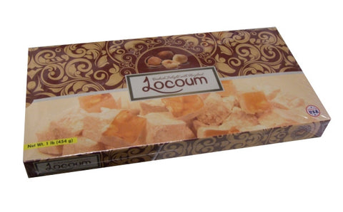 Locoum Turkish Delight with Hazelnut, 1 lb (454 g) - Parthenon Foods