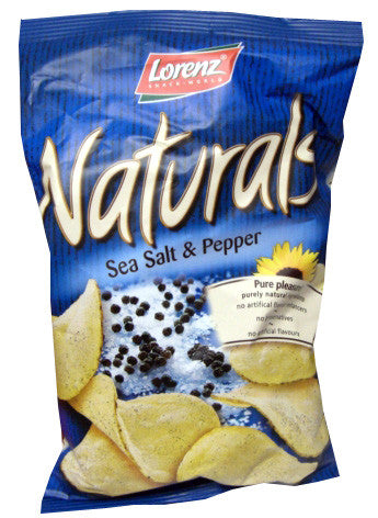 Naturals Sea Salt and Pepper Chips (Lorenz) 3.5 oz (100g) - Parthenon Foods