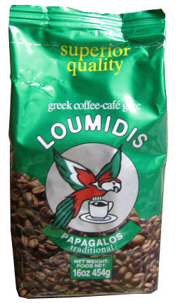Greek Ground Coffee (Loumidis) 16oz (454g) - Parthenon Foods