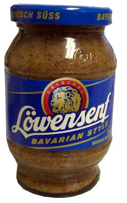 Lowensenf Bavarian Style Sweet Mustard, 10.2 oz (290g) Jar - Parthenon Foods