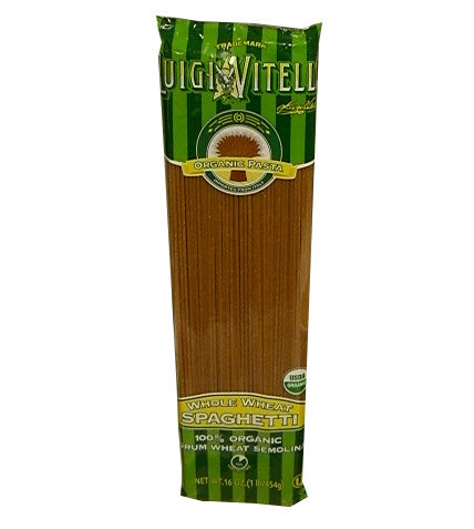 Whole Wheat Organic Spaghetti (Luigi Vitelli) 16 oz (454g) - Parthenon Foods