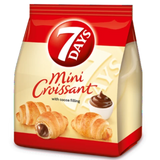 Croissants Mini with Cocoa Filling, 7 Days, 185g (6.53 oz) - Parthenon Foods