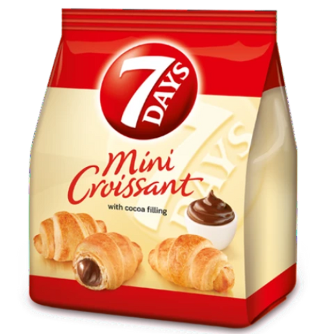 Croissants Mini with Cocoa Filling, 7 Days, 200g(.4lb) - Parthenon Foods