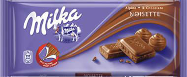 Milka Milk Chocolate Noisette, 100g - Parthenon Foods