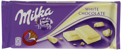 Milka White Chocolate, 100g - Parthenon Foods