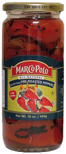 Fire Roasted Peppers (MarcoPolo) 16oz - Parthenon Foods