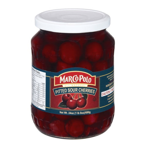 Pitted Sour Cherries in Light Syrup (MP) 24oz - Parthenon Foods