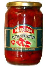 Red Long Peppers (marco polo) 24oz - Parthenon Foods