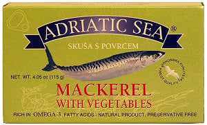 Mackerel with Vegetables 115g(4.05oz) - Parthenon Foods