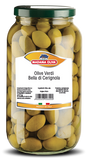 Green Cerignola Olives, 4.2 lbs JAR - Parthenon Foods