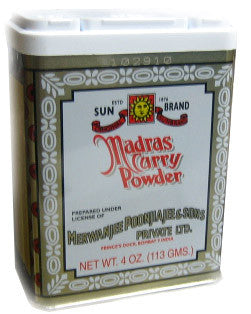 Madras Curry Powder (SunBrand) 4oz (113g) - Parthenon Foods
