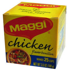 Maggi Chicken Boullion Cubes, 3.5 oz (100g) - Parthenon Foods