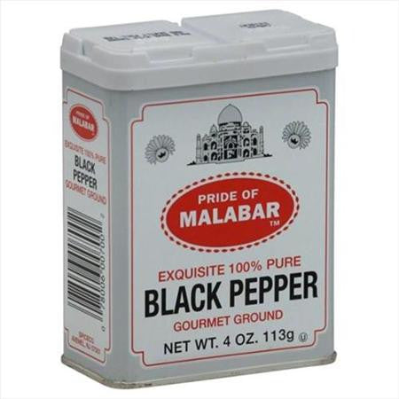 Malabar Ground Black Pepper 4oz(113g) - Parthenon Foods