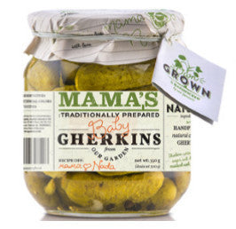 Mama's Baby Dill Gherkins, 19oz - Parthenon Foods