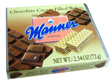 Chocolate Cream Filled Wafers (Manner) (72g) - Parthenon Foods