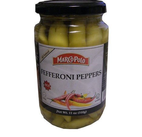 Hot Fefferoni Peppers (MarcoPolo) 11oz - Parthenon Foods