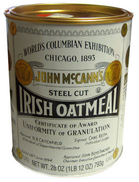 Irish Oatmeal, Steel Cut (John Mccann)28oz (1lb 12oz) 793g - Parthenon Foods