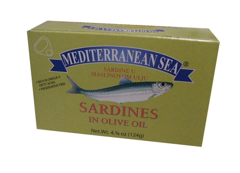 Sardines in Olive Oil (Mediterranean Sea) 124g - Parthenon Foods