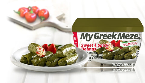 My Greek Meze Sweet & Spicy Dolmas (Palirria) 10 oz - Parthenon Foods