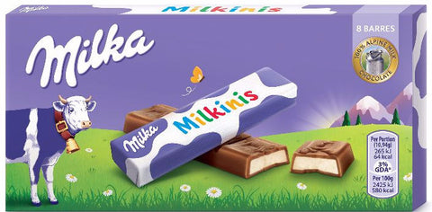 Milka Milkinis Milk Alpine Milk Chocolate with Milk Cream Filling 87.5g - Parthenon Foods