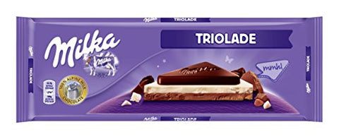 Milka Milk-White-Bitter Chocolate, Triolade, 300g - Parthenon Foods